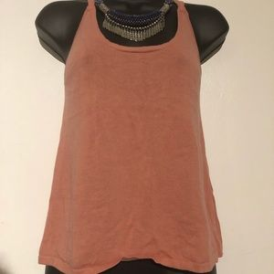 MANGO KNIT TANK IN CORAL SIZE S